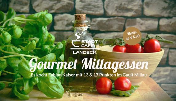Im Restaurant Stadtcafe Landeck kocht Fabian Kaiser, Gourmetkoch, 13 & 17 Punkte im Gault Millau. Reservierungen und Anfragen unter: 0676 / 900940 oder info@stadtcafe-landeck.at