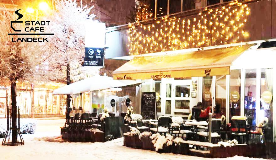 Stadtcafe Landeck im Winterkleid